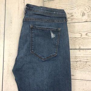 BANANA REPUBLIC Size 30 Blue Skinny Ankle Jeans